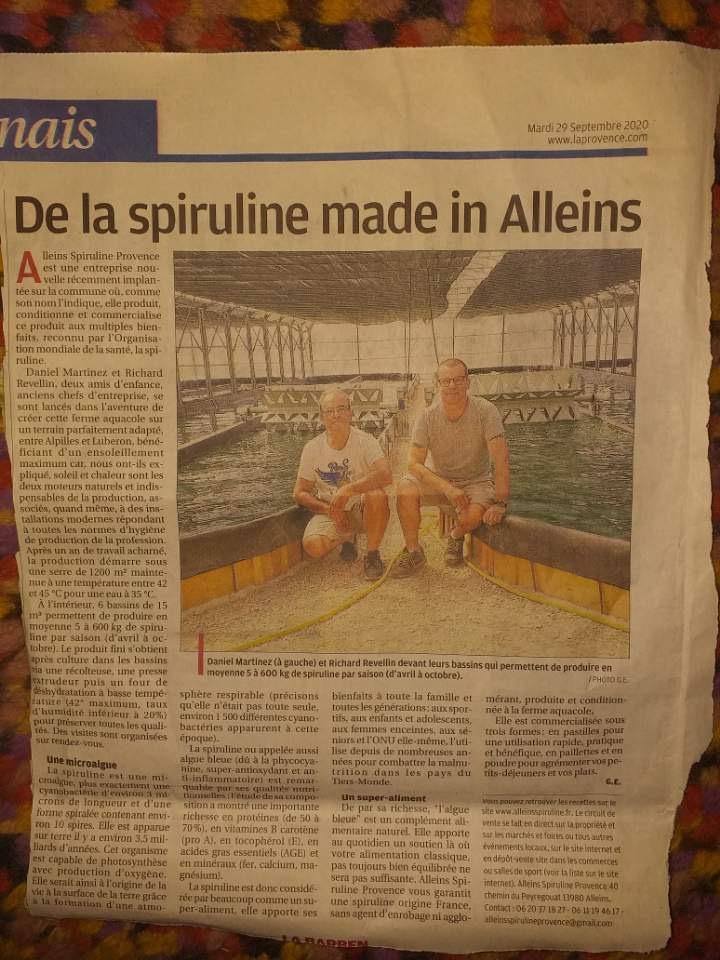 Alleins Spiruline Provence 2